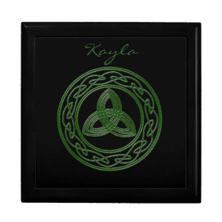 Personalized Celtic trinket box