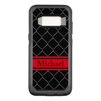 Personalized Chain Link Fence Pattern OtterBox Commuter Samsung Galaxy S8 Case