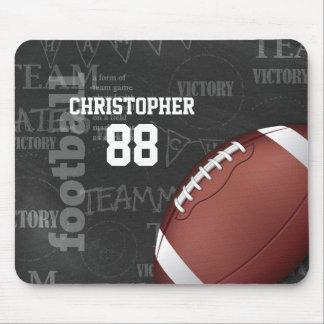 Personalized Chalkboard American Football Mousepads