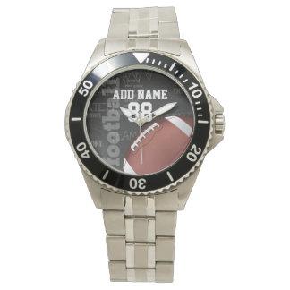 Personalized Chalkboard American Football Wristwatch
