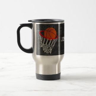 Personalized Chalkboard Basketball and Hoop Travel Mug