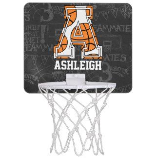 Personalized Chalkboard Basketball Letter A Mini Basketball Hoop