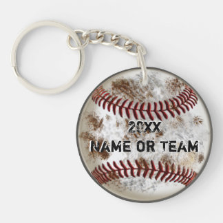 Personalized Cheap Baseball Team Gifts, Grunge Key Ring