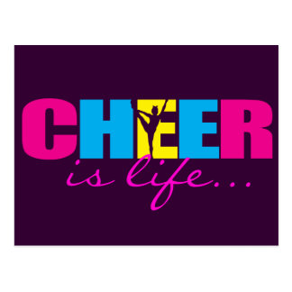 Personalized Cheer Cheerleading Purple Postcard