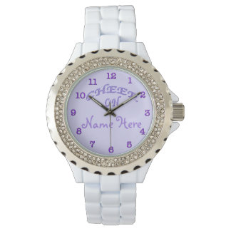 PERSONALIZED Cheer Gifts Ideas Purple Cheer Watch
