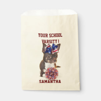 Personalized Cheerleader chihuahua treat bags Favour Bags