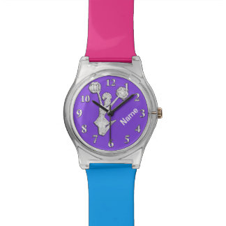 Personalized Cheerleader Watch, Your Colors, NAME Wristwatches