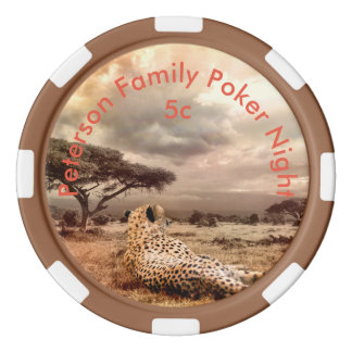 Personalized Cheetah Poker Chips