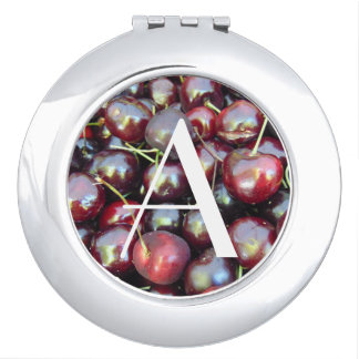 Personalized Cherries Compact Travel Mirrors