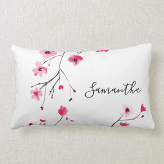 Personalized, Cherry Blossom, Name Lumbar Cushion
