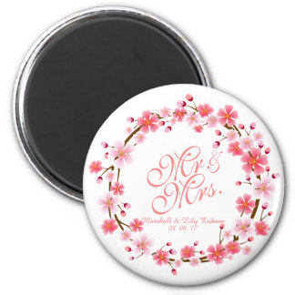 Personalized Cherry Blossom Wreath | Magnet