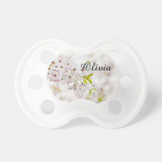 Personalized Cherry Blossoms Baby Girl Pacifier
