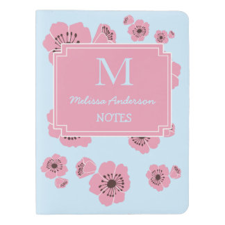 Personalized Cherry Blossoms Monogram Notebook