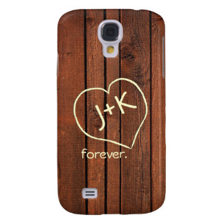 Personalized Cherry redwood Galaxy S4 Case