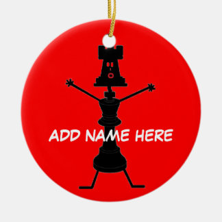 Personalized Chess Player Ceramic Ornament