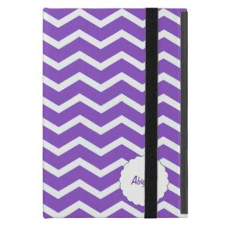 Personalized Chevron Stripe Purple Case For iPad Mini