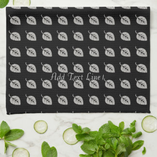Personalized Chic Abstract Leaf Pattern  Towel