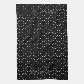 Personalized Chic Dotted Circles Pattern  Towel