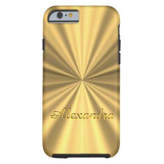 Personalized chic elegant golden tough iPhone 6 case