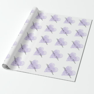 Personalized chic luxury wedding wrappingpaper