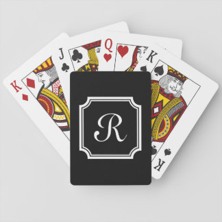 Personalized chic monogram playing cards for poker