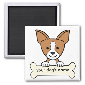 Personalized Chihuahua Square Magnet