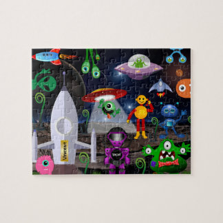 Personalized Child Astronaut & Rocket Jigsaw Puzzle