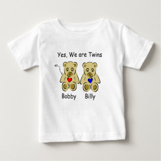 Personalized Child Tshirts Yes, We Are Twins