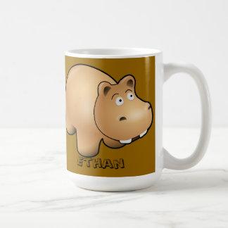 Personalized Child's Hippo Mug