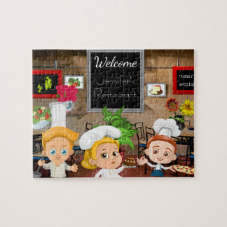 Personalized Child's Restaurant Jigsaw Puzzle