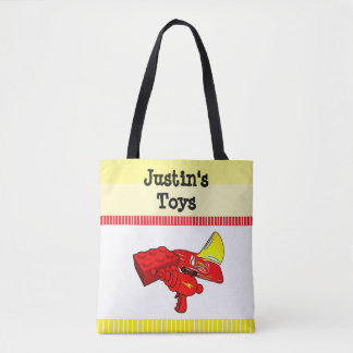 Personalized child's tote Bag for small Toys