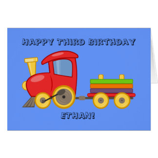 Personalized Child's Train Birthday Card