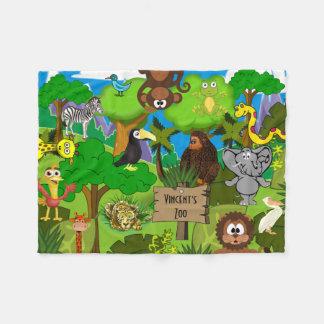 Personalized Child's Zoo Fleece Blanket