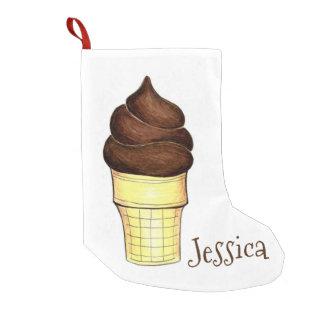 Personalized Chocolate Ice Cream Cone Stocking