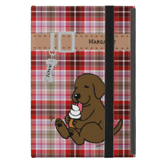 Personalized Chocolate Lab Licking Ice Cream iPad Mini Covers
