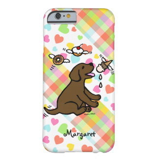 Personalized Chocolate Labrador Ice Cream Dream Barely There iPhone 6 Case