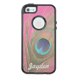 Personalized Choose Background Peacock Feather Eye OtterBox iPhone 5/5s/SE Case