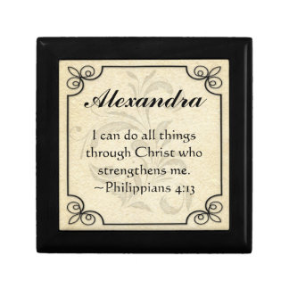 Personalized Christian Bible Verse Keepsake Box