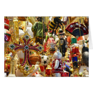 Personalized Christmas Card Tin Vintage Ornaments