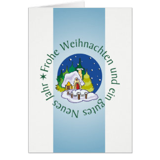 Personalized Christmas card winter village
