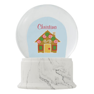 Personalized Christmas Gingerbread Snow Globe