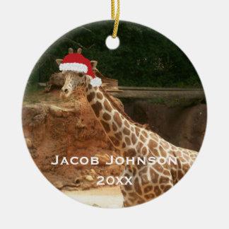 Personalized Christmas Giraffe Ornament