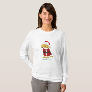 Personalized Christmas Goldendoodle Santa Claus T-Shirt