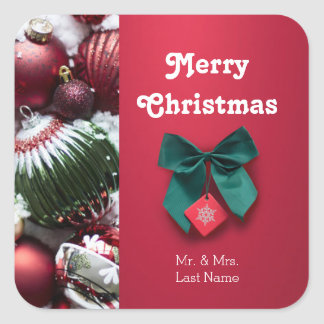 Personalized Christmas Greeting Sticker