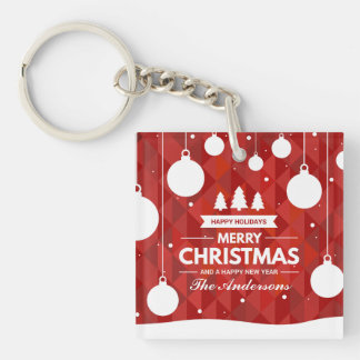 Personalized Christmas Holiday | Keychain