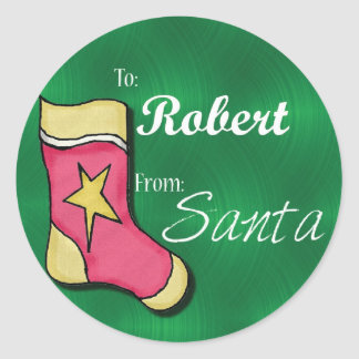 Personalized Christmas Label105 Round Stickers