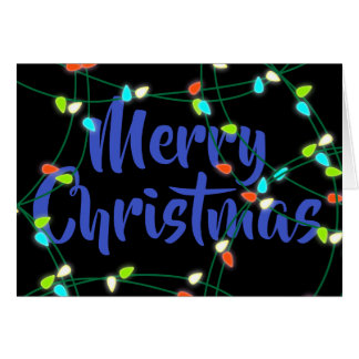 Personalized Christmas Lights Merry Christmas Card
