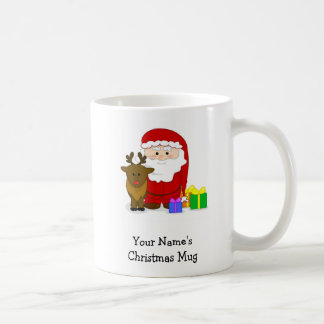 Personalized Christmas Mug - Santa and Reindeer