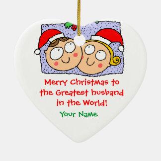 Personalized Christmas Ornament Snow Scene