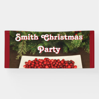 Personalized Christmas Party Banner